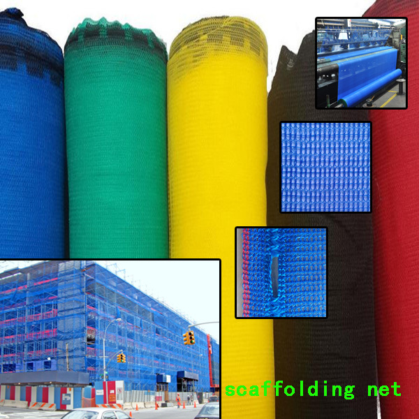 HDPE Knitted Construction Security Square Grid Orange Scaffolding Net