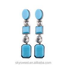 SWTY1280 2013 teenage girls fashion rectangle shaped earring jewelry earrings
