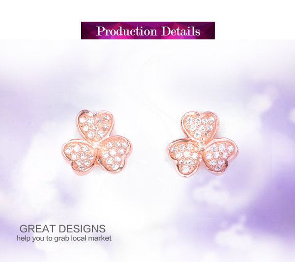 Latest product natural gemstone sterling silver small gold earrings