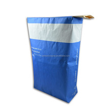 25kg blue kraft paper block bottom valve bag for packing putty, mortar, glue, cement