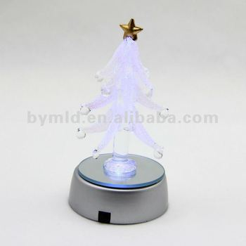 Color Changing LED Glass Christmas Tree