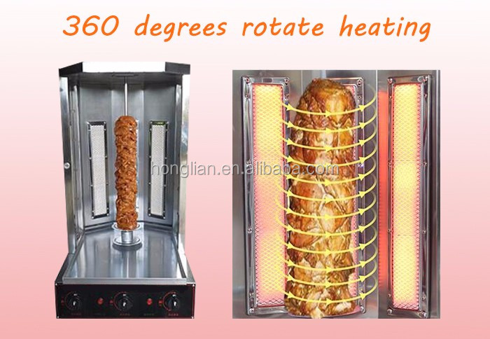 Low price of gas bbq with rotisserie grill