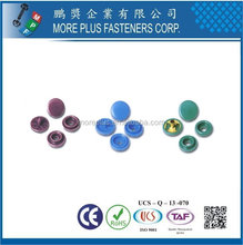 Taiwan Brass Metal Copper Gold Plated Steel Plastic snap button Plastic Fastener Decorative Snap Fasteners