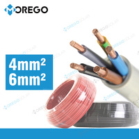 Morego pv solar cable 4mm 6mm PVC insulated copper wire, electric house wire , cable wires