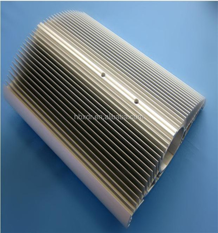 aluminium tube with wing round heat sink