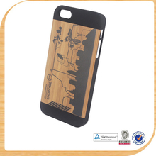 newest hot wooden heart mobile phone case For iPhone5s wooden cover case wood phone cover cases