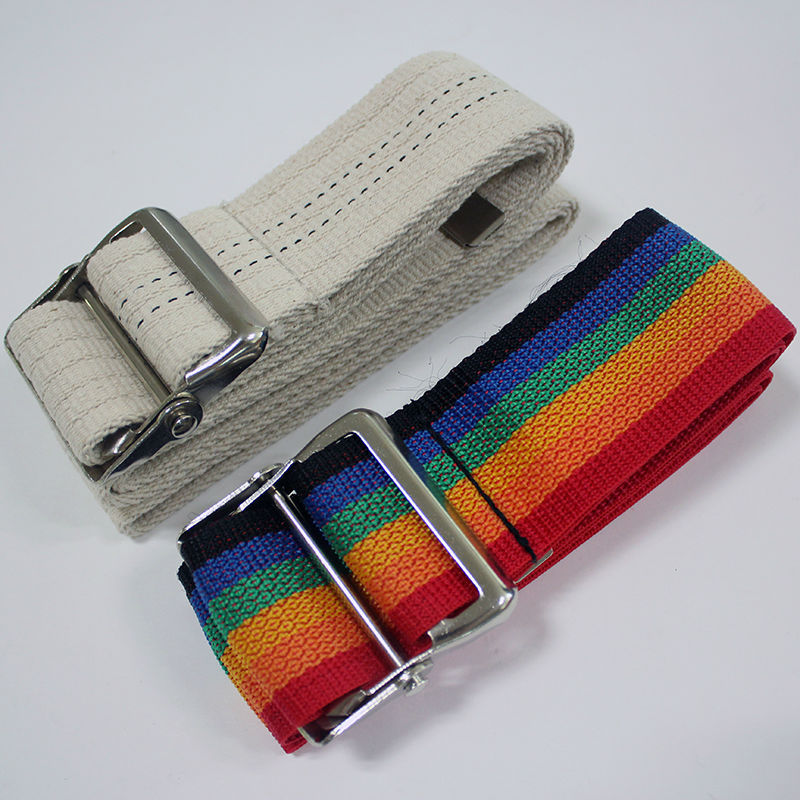 Custom gait belt metal buckle polyester and cotton material top quality