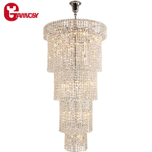 Luster Modern Vanity Chandelier Silver Crystal Pendant Lamp Luxury Hotel project Pendant light