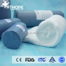 blue paper packing surgical absorbent cotton wool roll