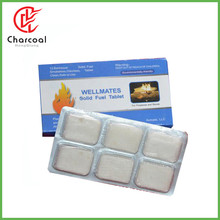 HongQiang white firestarter Hexamine solid fuel tablets for Camping Stove