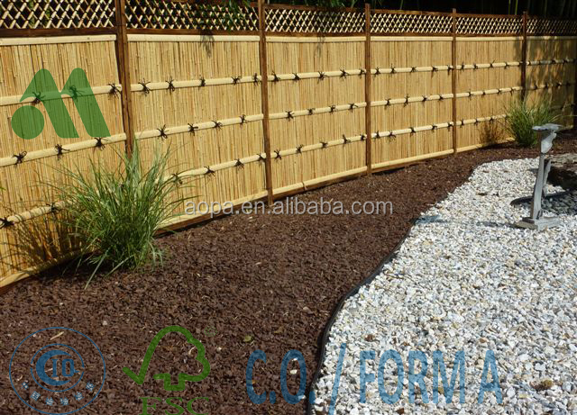 LW-FP08 Backyard Bamboo Wall Panels, Fixed Bamboo Screen Panels, Palisade for Backyard Decorative