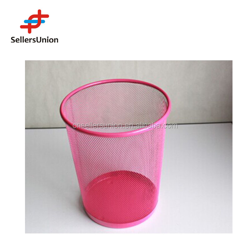 No.1 yiwu commission agent wanted METAL WASTE BASKET , DUSTBIN , GARBAGE BIN SIZE 23.3*18.8*26CM
