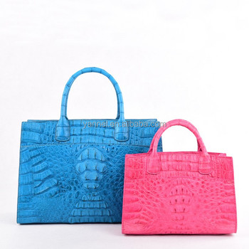 lady Crocodile skin tote_crocodile leather lady bag women handbags FACTORY