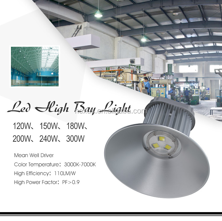 factory warehouse industrial 120w 150w 180w 200w 240w 300w led high bay light