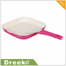 Hot Square ceramic coating griddle pan with one side ear