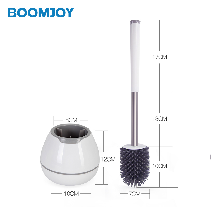 BOOMJOY household with holder durable TPR fashionable round toilet <strong>brush</strong>