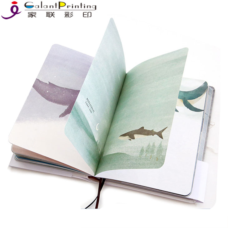 Alibaba wholesale recycled promotion illustrated custom high quality hardcover note book