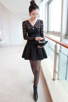 latest new designs blouse wholesale blouse all full sexy picture women blouse black long sleeve shirt 2014