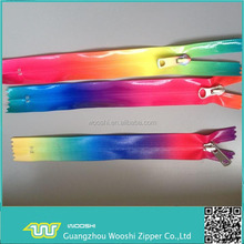 Zipper factory/colorful Nylon+PVC waterproof zipper long chain or finished zipper