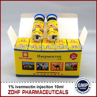 Veterinary Medicine Ivermectin 1% Injection for horse dog