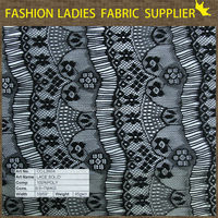 new arrival and fashionable 100 % polyester lace solid fabric for ladies' wear lace fabric for curtains