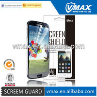 Wholesale cell phone accessories / mobile screen protector for Samsung galaxy s4 i9500 oem/odm (High Clear) with packing