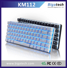 OEM 78 keys RGB floating design kailh switch wired backlit gaming aluminum metal mechanical keyboard