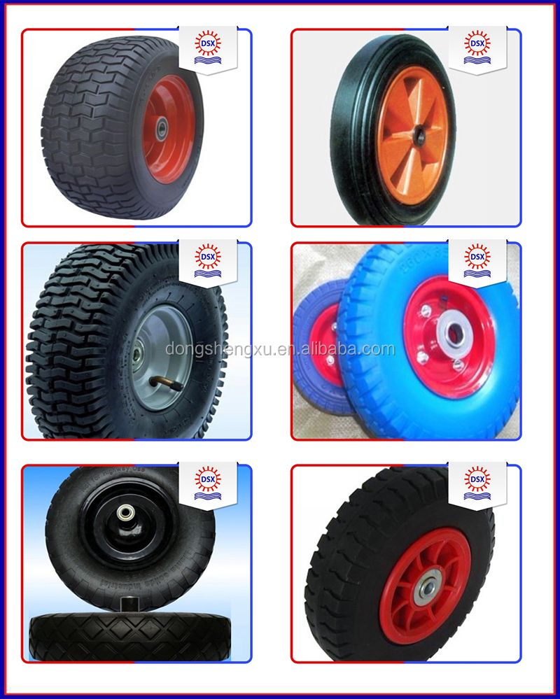 China Supplier 4 Inch Solid Rubber Wheel