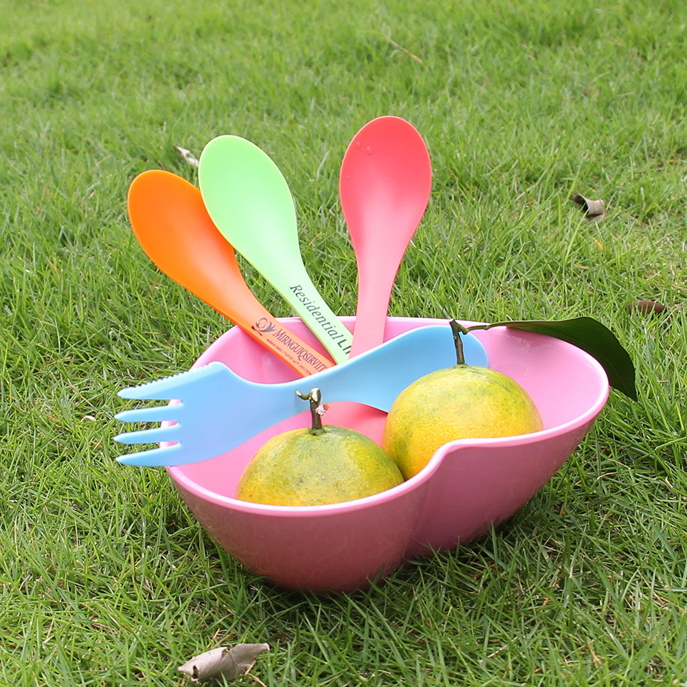 plastic fork spoon combination/plastic spoon fork knife