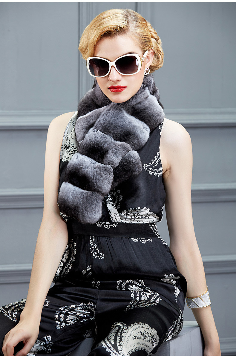 Wholesale Top Quality Gold Sable Fur Scarf Pelliccia