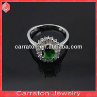 Shenzhen Wholesale cheap 925 solid sterling silver crystal finger ring