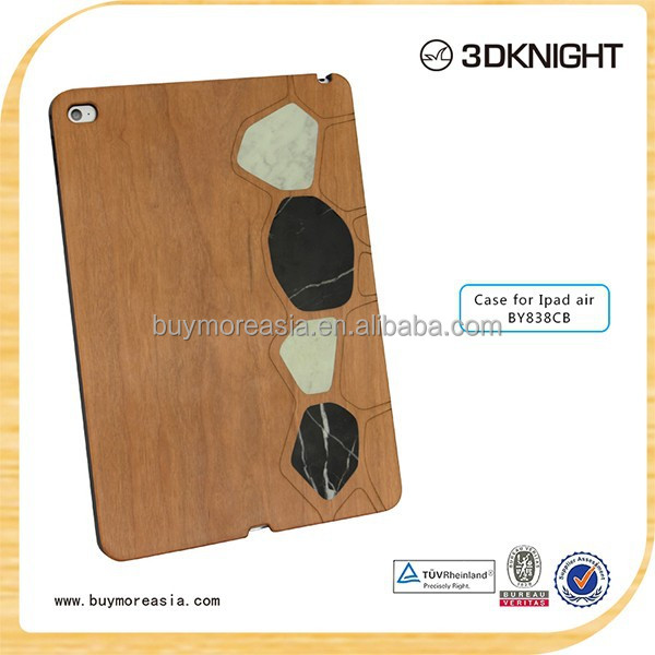 hot new products 2015 high quality wood raw case for ipad air 2