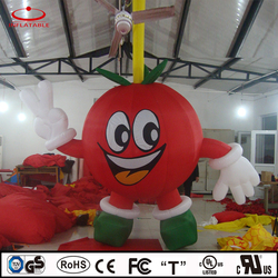 inflatable walking cartoon, inflatable cherry, inflatable fruit