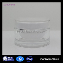 transparent empty cosmetic plastic jars cosmetic container and acrylic cream jars 15g 30g 50g 100ml 200ml