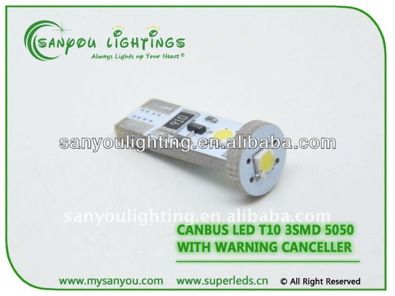 2014 new productsChina manufacturer T10 canbus 3 SMD vespa accessories/motorcycle light /electrical lighting