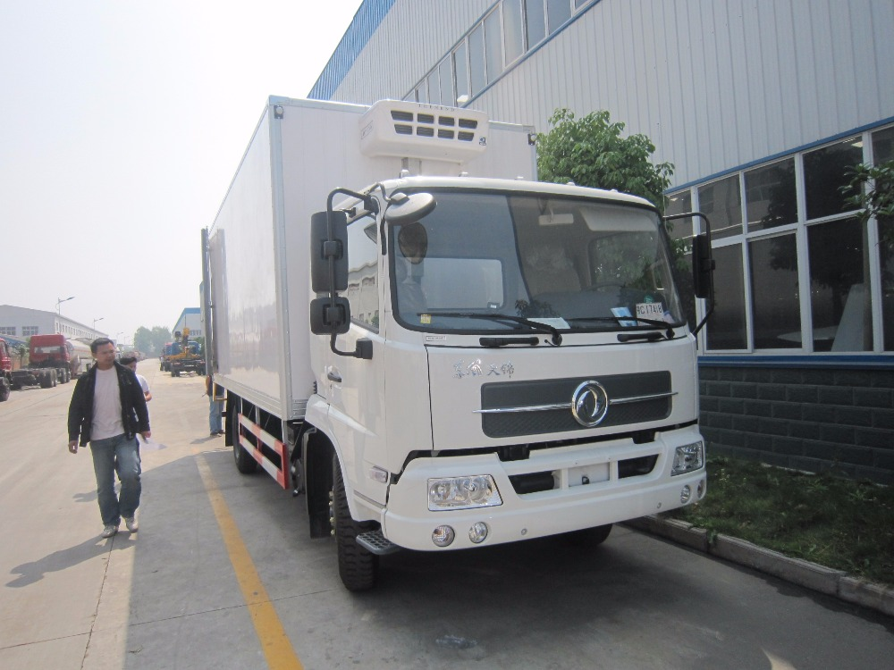 Dongfeng New Model 4x2 Right Hand Drive Refrigerator Truck 10T Cooling Van Truck