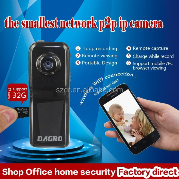 Good price IR PTZ p2p wireless HD portable mini ip camera support iOS/Android smart phone
