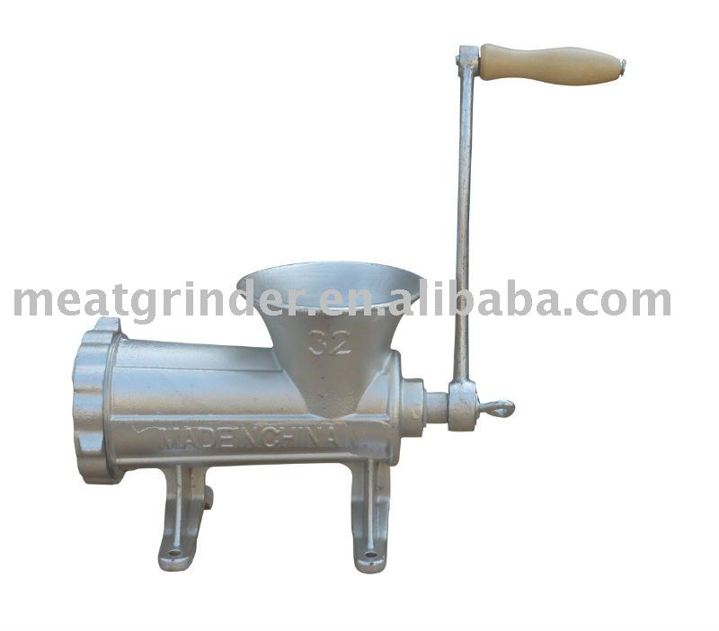 Linyi 32# manual meat mincer,wooden handle
