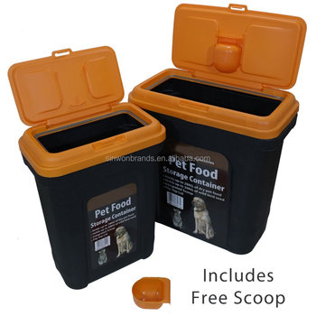 Pet Food Storage Container Dry Dog Cat Food Bird Seed Storage Box Bin With Scoop SW18-045
