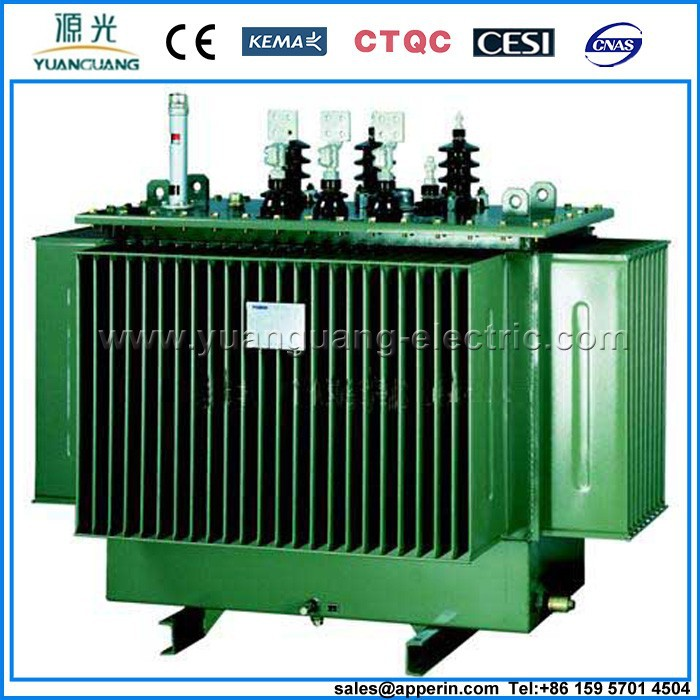 S11 series oil cooled high 3 phase high voltage high frequency power transformer 10kva