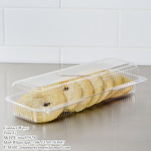 StayLock Clear Hinged Lid Clamshell Type Plastic Strudel or Hoagie Container Food Packaging Box