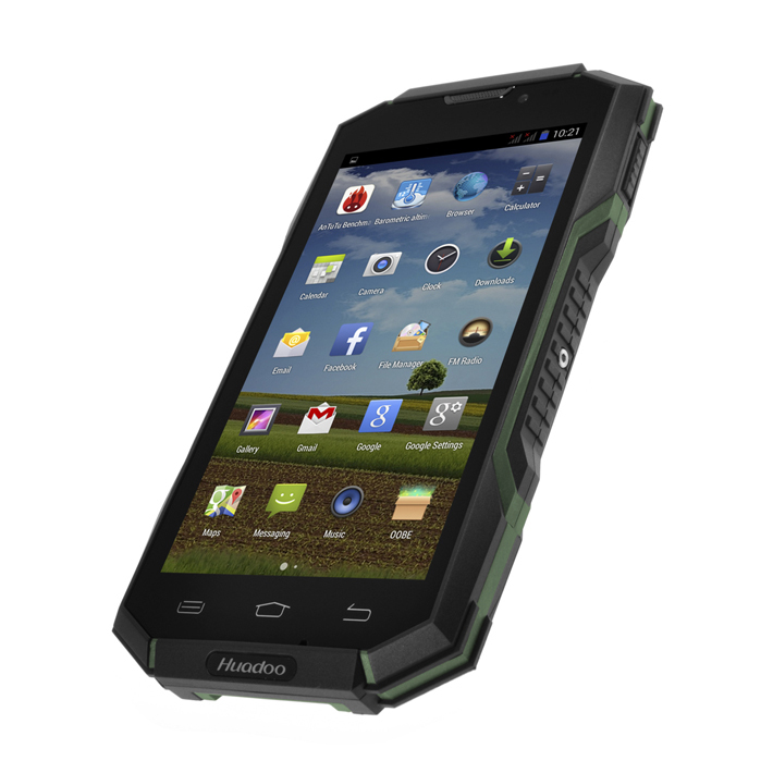 5.0 inch IP68 android mobile waterproof NFC rugged phone 1GB+8GB