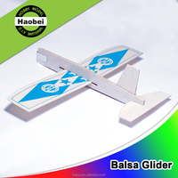 China new model 8/12inch wing span balsa wood airplane gliders
