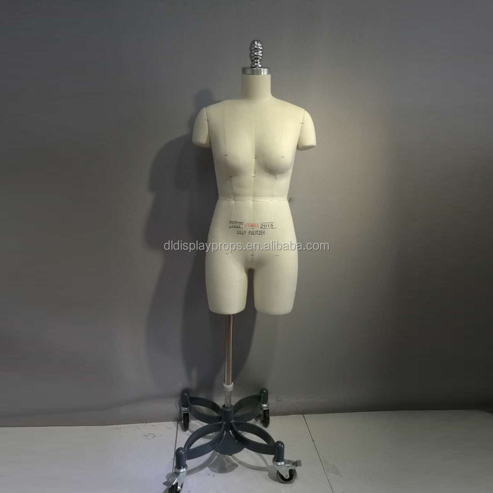 Female half body fabric folding Shoulder cover bust dummy fabric model prefessional tailors dummy with metal base