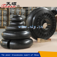 Rubber element for tyre coupling