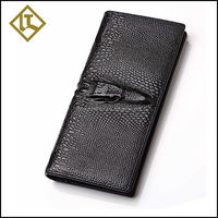 Luxury hot sell small crocodile leather wallet leather case
