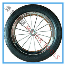bicycle tyres 12 inch 12 1/2 x 2 1/4 solid tire pu foam rubber wheel with metal spoke