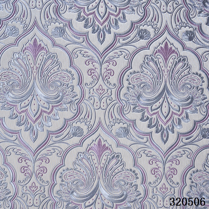 China Famous Wallpaper Brand Vinyl PVC fabric backed wallpaper