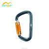 Outdoor Equipment Aluminum Automatic Lock Lightweight Carabiner For Rock Climbing