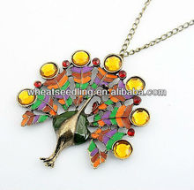 Hottest Jewelry Peacock Inspired Necklace NK247